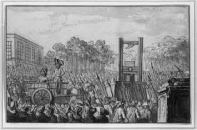 Public killings using the guillotine during the French revolution